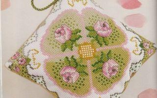 Схема вышивки игольницы крестиком