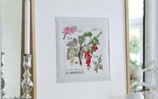 Парижские вышивальщицы: схема для вышивки Смородина