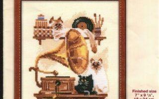 Схема вышивки крестом от Riolis: кошки №859