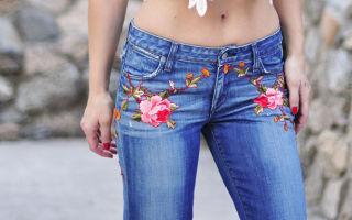 Вышивка на джинсах, советы по выполнению работ