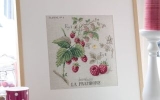 Парижские вышивальщицы: схема для вышивки Малина