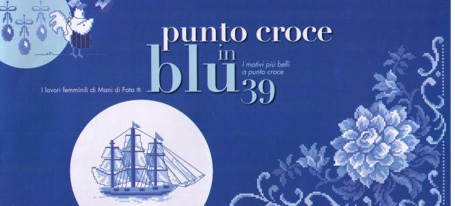 Журнал со схемами Punto Croce in blu 39