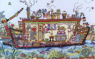 Схема для вышивки Bothy Threads: Narrow Boat All