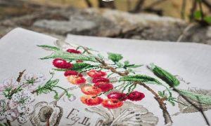 Парижские вышивальщицы: схема для вышивки Черешня