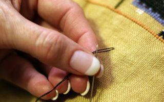 Как правильно закрепить нить при вышивании крестом?