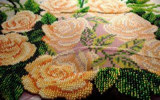 Вышивка бисером картины различными видами швов