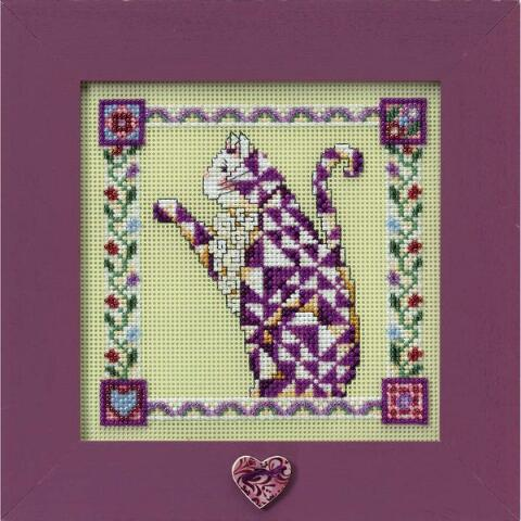 cхема mill hill petunia QUILTED CAT