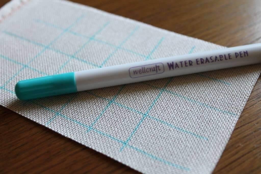 разметка канвы маркером