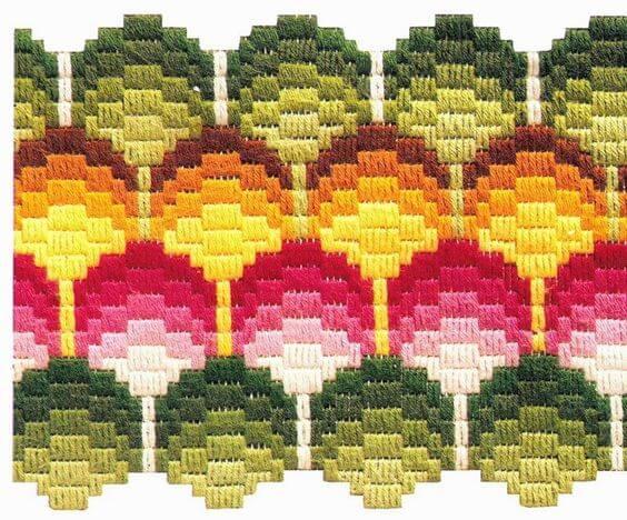 флорентийская вышивка