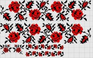 вышивка украины роза