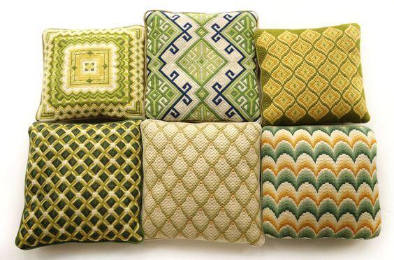 барджелло вышивка подушка