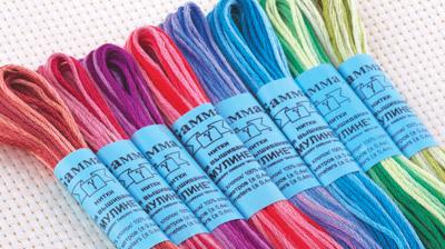 меланжевые нитки для вышивания