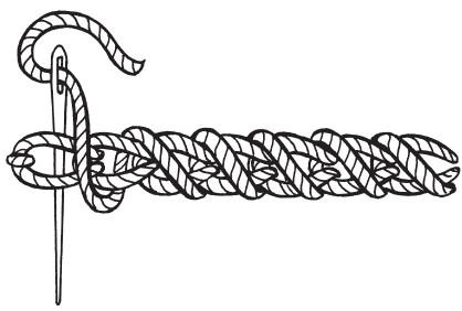 шов шнурок