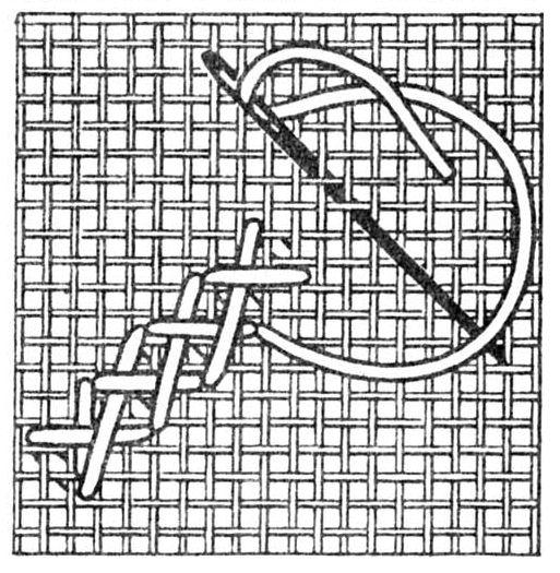 шов удлиненый крест
