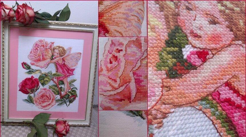 Схема вышивки крестом Алиса: Фея розового сада