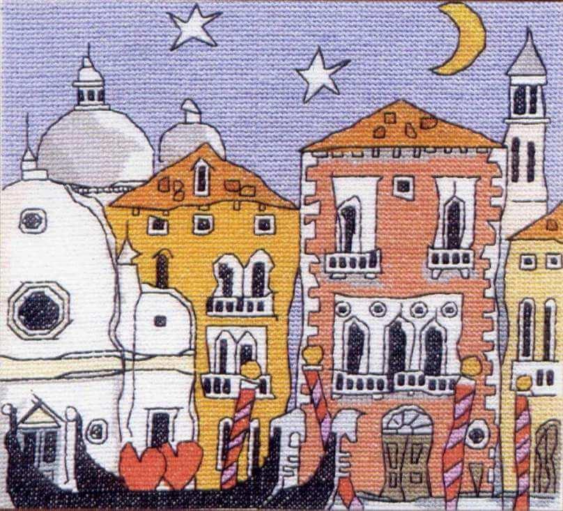 Схема вышивки Michael Powell: Venice Gondola