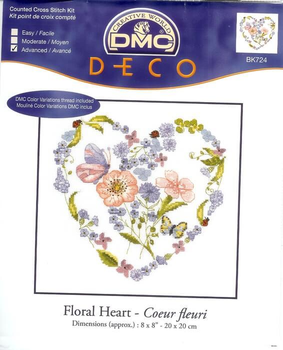 DMC Floral heart