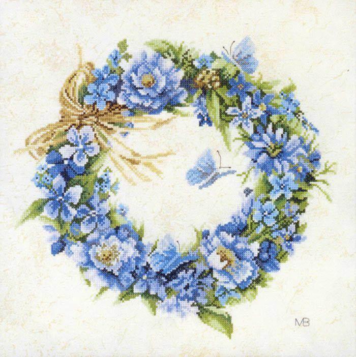 венок голубой схема ланарте