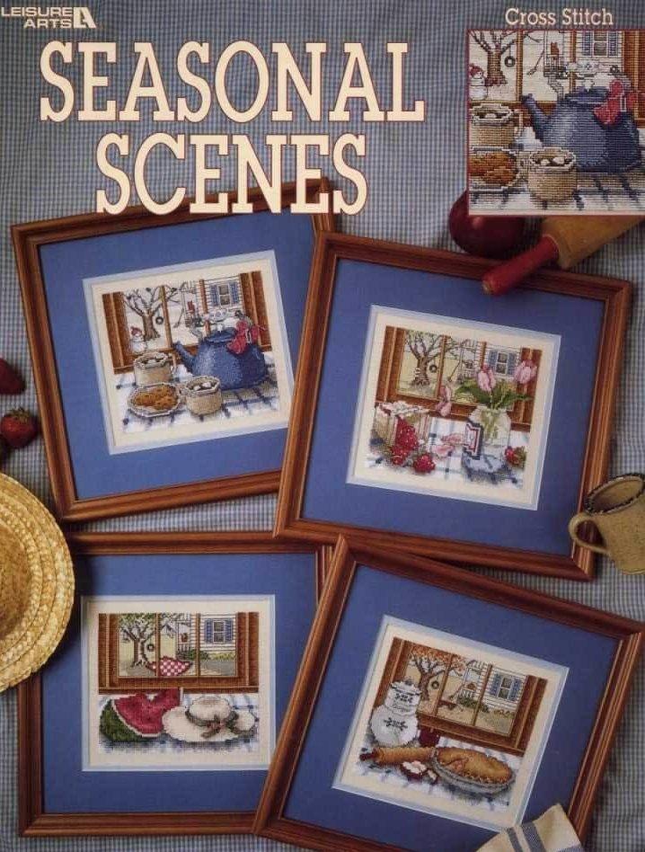 Схема вышивки Leisure Arts: Seasons scenes