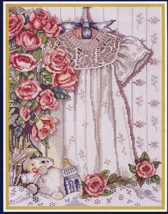 Схема вышивки Крестильное платье