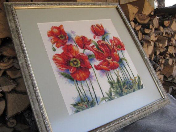 Схема для вышивки крестом DOME: Lovely poppys