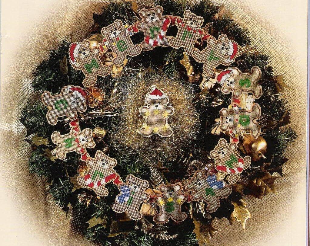 Схема вышивки Carol Пielseп: Bear-ry Christmas