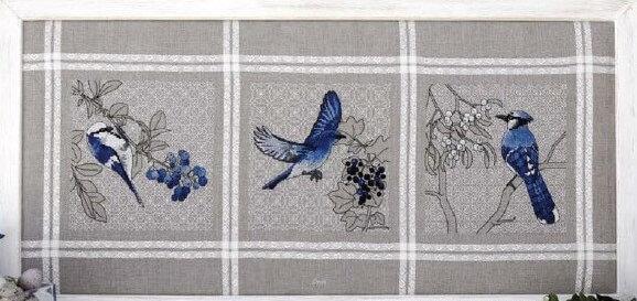 Схема для вышивки Ajasai: птицы