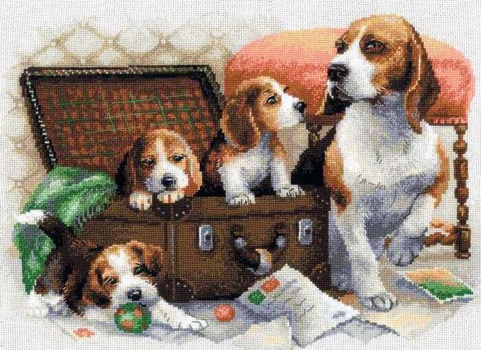 Схема для вышивки Собаки