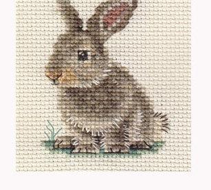 Схема для вышивки зайца