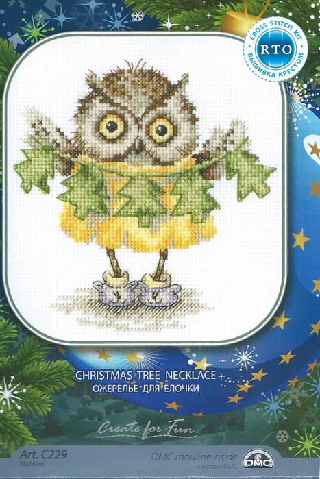Схема для вышивки RTO: Christmas tree necklace
