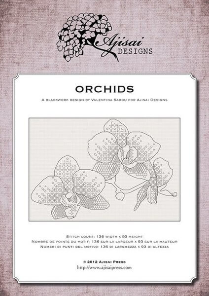 Схема для вышивки Ajisai Designs: Orchids