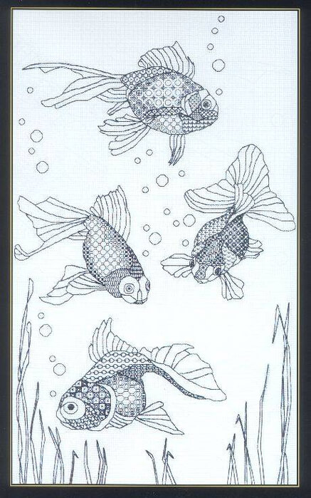 Di Noyce: Blackwork fish скачать