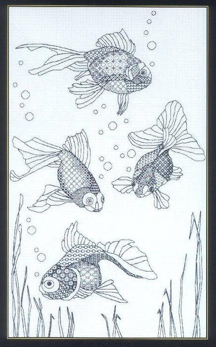Di Noyce: Blackwork fish скачать