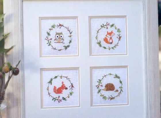 Схема для вышивки Миниатюры с животными