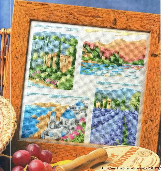 схема пейзажа вышивки