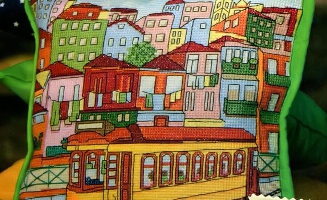 схема вышивки города бесплатно