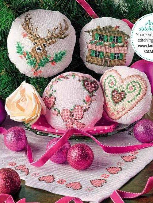 Схемы для вышивки крестиком новогодних миниатюр
