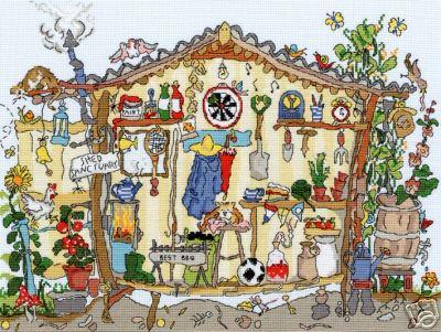 Схема для вышивки Bothy Threads: Garden Shed скачать