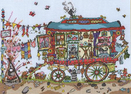 Схема для вышивки Bothy Threads: Gypsy Wagon скачать схему