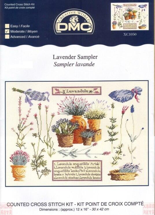 Схема для вышивки DMC: Lavender sampler скачать