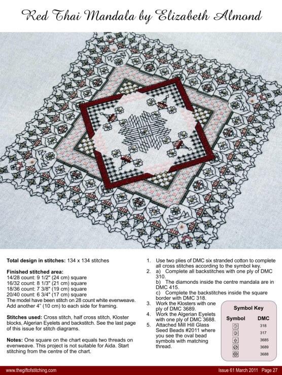 Схема для вышивки блекворк: салфетки