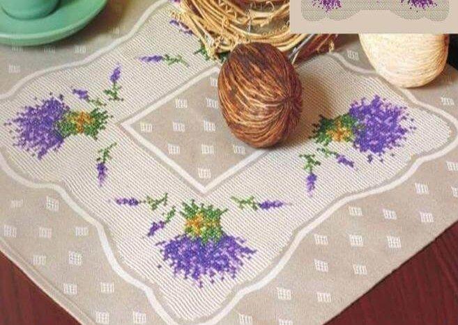 Схема для вышивки DMC: Lavender sampler