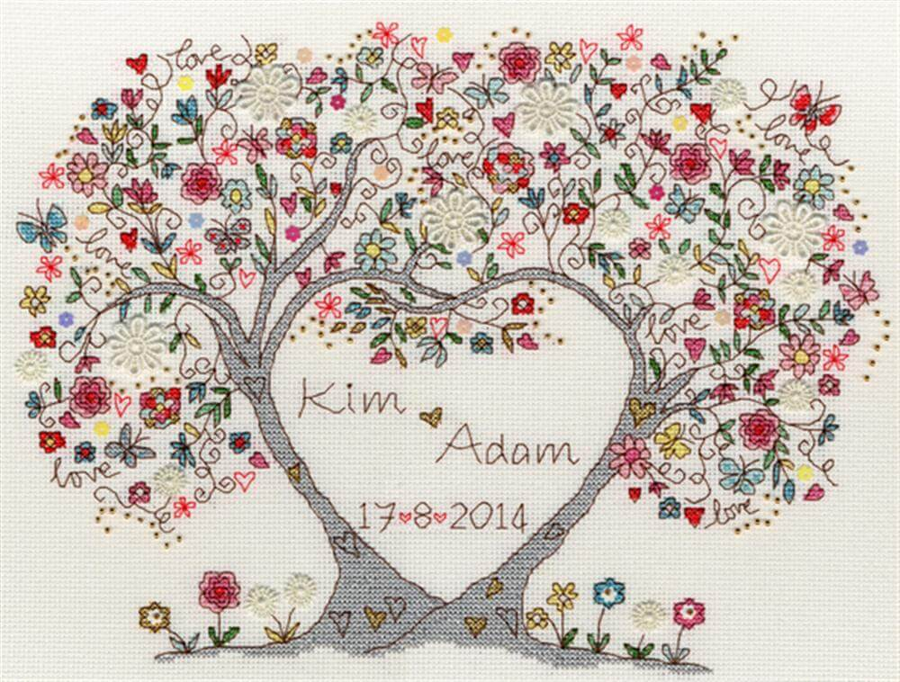 Схема для вышивки крестиком Bothy Threads: Love Blossoms